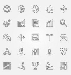 career icons set vector image