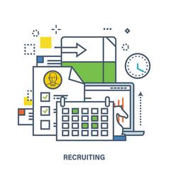 Concept of recruitment in work vector