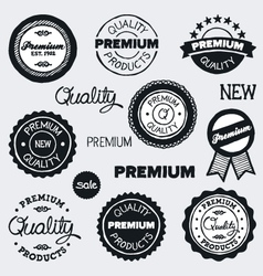 drawn vintage labels vector image vector image