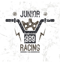 Emblem motorcycle racing junior vector image vector image
