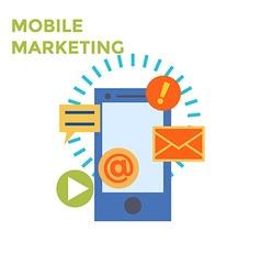 Flat design mobile marketing icon vector