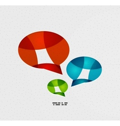 Modern paper design chat concept vector image