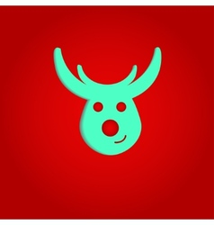 Nice deer on the red background vector image