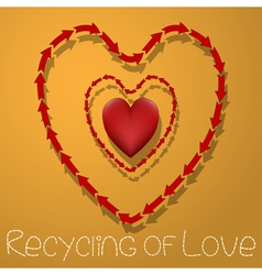 Recycling of love vector image vector image