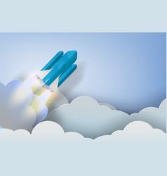 rocket start up dollar bussiness concept vector image vector image