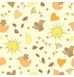 Spring doodles set vector image vector image