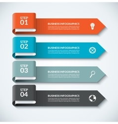 Arrow design elements for business infographics vector image vector image