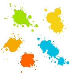 Collection of paint splash vector image vector image