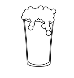 contour glass beer icon image design vector image