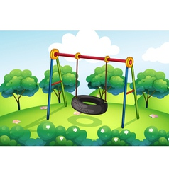 An empty park vector image