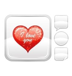 Happy Valentines day romance love heart I love vector image vector image