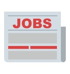 Job search icon vector image