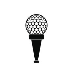 Golf ball on a tee icon vector image vector image