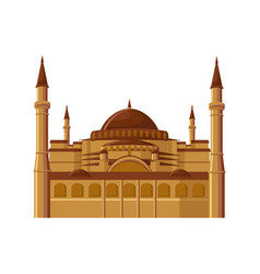 Hagia sophia museum in istanbul turkey isolated vector
