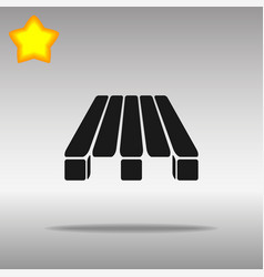 pallets black icon button logo symbol vector image