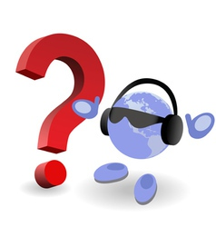 question mark world vector image vector image