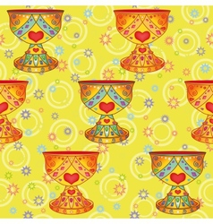Seamless background Holy Grail vector image
