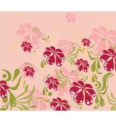 Spring summer colorful flower background vector