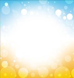 summer background - blur of sky sun sea beach vector image