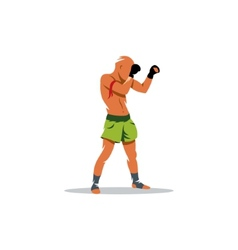 Thai boxing sign vector image