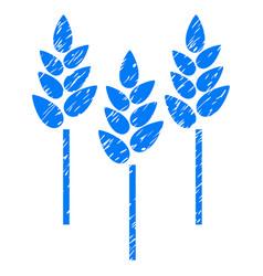 wheat ears icon grunge watermark vector image