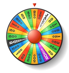Wheel of fortune vector image vector image