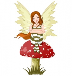 young forest fairy vector image