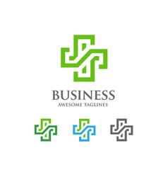Abstract health cross medical logo vector