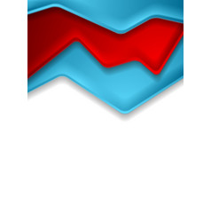 abstract red and blue corporate contrast vector image
