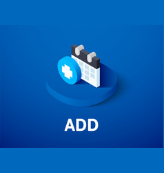 Add isometric icon isolated on color background vector