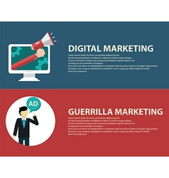 Advertising design concept set media and guerrilla vector image
