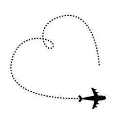 air plane icon black silhouette shape airplane vector image