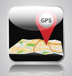 app gps vector image
