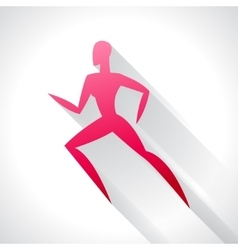 Athletics emblem abstract stylized running vector