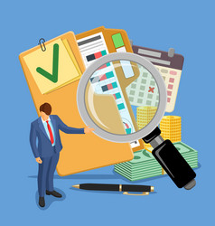 audit and tax banner vector image