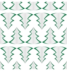 Background of green christmas trees vector