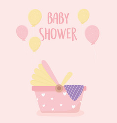 bashower newborn car seat balloons decoration vector image