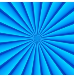 Blue abstract rays circle background vector image