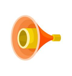 bright yellow-orange megaphone isolated on white vector image