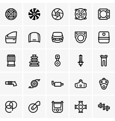 Car parts icons vector image
