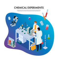 chemical experiments isometric vector image