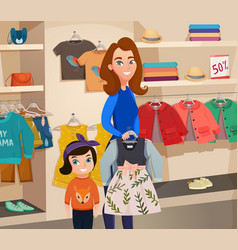 Childrens clothing store vector