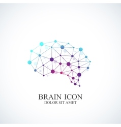 Colorful Template Brain Logo Creative vector
