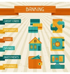 Conceptual banking and business background vector