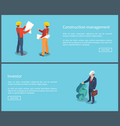 Construction management web vector