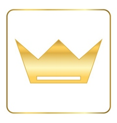 Croun gold icon royal white vector