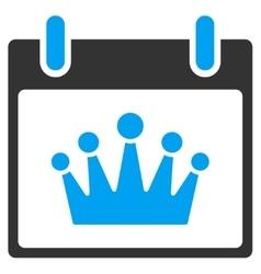 Crown Calendar Day Toolbar Icon vector image