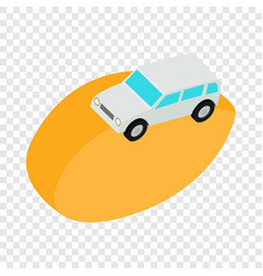 Desert car isometric icon vector