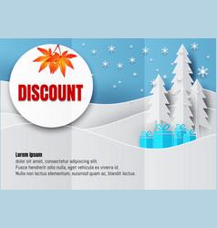 discount poster or flyer design in paper art vector image