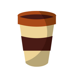 Disposable coffe cup vector
